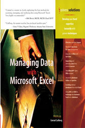Managing Data with Excel by Conrad Carlberg