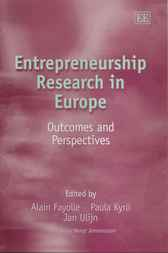 Entrepreneurship Research in Europe by A. Fayolle