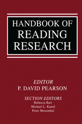 Handbook of Reading Research by P. David Pearson
