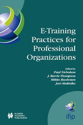 E-Training Practices for Professional Organizations by Paul Nicholson