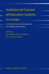 Institutional Context of Education Systems in Europe by R.H. Hofman