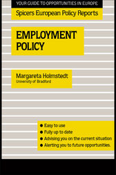 Employment Policy by Margareta Holmstedt
