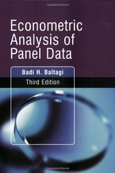 Econometric Analysis of Panel Data by Badi H. Baltagi