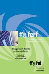 Management's Reports on Internal Controls by Financial Executives Research Foundation