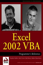 Excel 2002 VBA by Rob Bovey