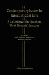 Contemporary issues in international law by D. Freestone