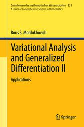 Variational Analysis and Generalized Differentiation II by Boris S. Mordukhovich