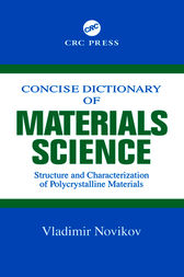 Concise Dictionary of Materials Science by Vladimir Novikov