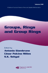 Groups, Rings and Group Rings by Antonio Giambruno