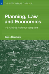 Planning, Law and Economics by Barrie Needham