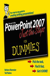 PowerPoint 2007 Just the Steps For Dummies by Barbara Obermeier