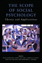 The Scope of Social Psychology by Miles Hewstone