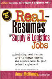 Real-Resumes for Supply & Logistics Jobs by Anne McKinney
