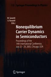 Nonequilibrium Carrier Dynamics in Semiconductors by Marco Saraniti