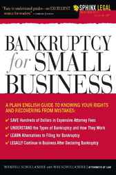 Bankruptcy for Small Business by Wendell Schollander