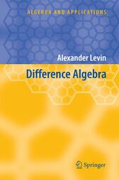 Difference Algebra by Alexander Levin