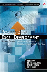 Professional Excel Development by Rob Bovey