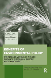 Benefits of Environmental Policy by Klaus Dieter John