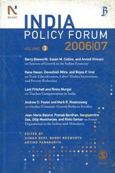 India Policy Forum 2006-07 by unknown