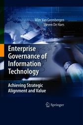 Enterprise Governance of Information Technology by Wim Van Grembergen