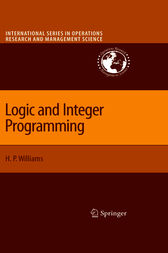 Logic and Integer Programming by H. Paul Williams