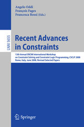 Recent Advances in Constraints by Angelo Oddi