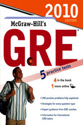 McGraw-Hill's GRE, 2010 Edition by Steven W. Dulan