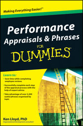 Performance Appraisals and Phrases For Dummies by Ken Lloyd