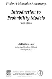 Introduction to Probability Models, Student Solutions Manual (e-only) by Sheldon M Ross