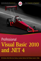 Professional Visual Basic 2010 and .NET 4 by Bill Sheldon