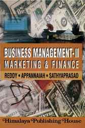 Business Management, 2: Marketing and Finance by P.N. Reddy
