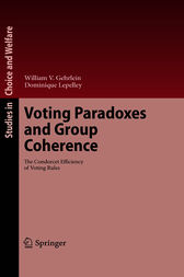 Voting Paradoxes and Group Coherence by William V. Gehrlein