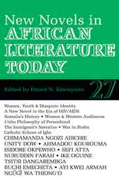 ALT 27 New Novels in African Literature Today by Ernest N. Emenyonu