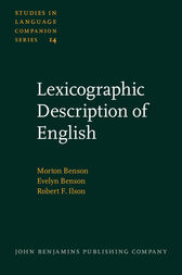 Lexicographic Description of English by Morton Benson