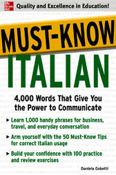 Must-Know Italian by Daniela Gobetti