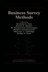 Business Survey Methods by Brenda G. Cox