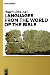 Languages from the World of the Bible by Holger Gzella