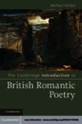 The Cambridge Introduction to British Romantic Poetry by Michael Ferber