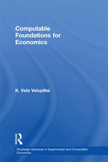 Download Ebook Computable Foundations for Economics by K. Vela Velupillai Pdf