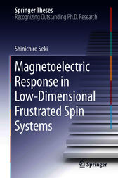 Magnetoelectric Response in Low-Dimensional Frustrated Spin Systems by Shinichiro Seki
