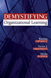 Demystifying Organizational Learning by Raanan Lipshitz