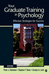 Your Graduate Training in Psychology by Peter J. Giordano