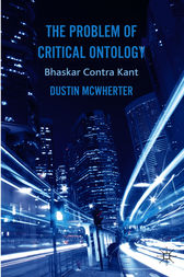 The Problem of Critical Ontology by Dustin McWherter