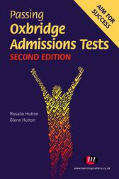 Passing Oxbridge Admissions Tests by Rosalie Hutton