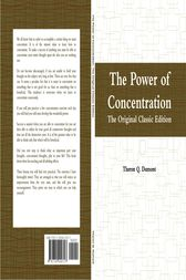 The Power of Concentration: The Original Classic Edition by Theron Q. Dumont