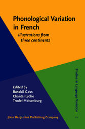 Phonological Variation in French by Randall Gess