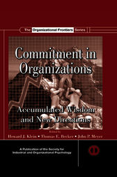 Commitment in Organizations by Howard J. Klein