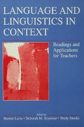 Language and Linguistics in Context by Harriet Luria