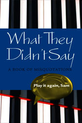 What They Didn't Say by Elizabeth Knowles
