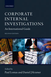 Corporate Internal Investigations by Paul Lomas